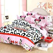 minnie mouse bed mouse bedding full kids leopard com size comforter set bed sheets minnie mouse