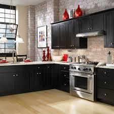 Kitchen Design : Astonishing Faux Brick Tile Black Backsplash ...
