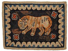adaption of beauport house tiger by adrienne s pattern only or complete rug hooking kit