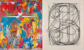 left jasper johns painting with two 1960 right jasper johns 0 through