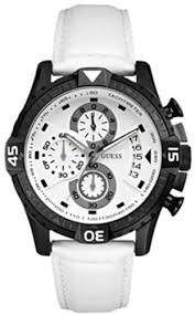 amazon com guess men s sporty trend watch white guess watches