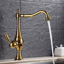 antique gold bathroom faucet with single hole single holder swivel spout copper antique bathroom sink faucet hs424 from huahongsanitary 87 44 dhgate