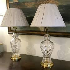 pair of cut glass vase table lamps 379597