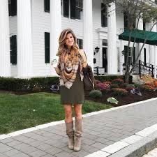 Olive Green Dress Plaid Blanket Scarf Knee High Mushroom Suede