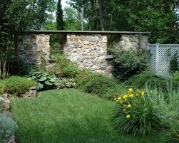 Small Picture Lovable Stone Wall Garden Ideas Stacked Stone Garden Wall Design