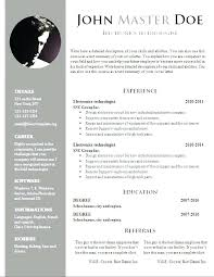 Download A Cv Template Create Free Resume Doc Templates New Format