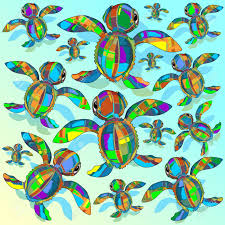 Turtle Pattern Best Baby Sea Turtle Fabric Toy Pattern Royalty Free Cliparts Vectors