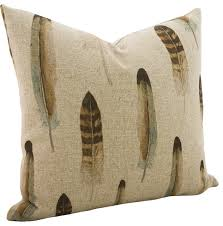 Decorative Pillows With Feather Design Impressive Linen Feather Throw Pillow Contemporary Decorative Pillows By