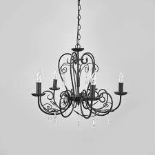 Lampenwelt Kronleuchter Sophina Dimmbar Retro Vintage Antik In Schwarz Aus Metall Ua Für Wohnzimmer Esszimmer 5 Flammig E14 A