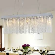 minimalist crystal chandelier dining room