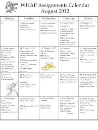 Whap Assignments Calendar August Ppt Video Online Download