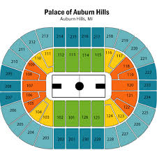 Detroit Pistons Seating Chart Palace Of Auburn Hills Map Of Palace Of Auburn Hills Camping In Ocala