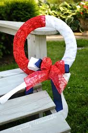 patriotic wreaths for front doorPatriotic Ribbon Wreath Exquisitely Unremarkable