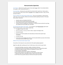 Demonstration Speech Outline Speech Outline Template 38 Samples Examples And Formats