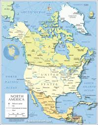 political map of north america ( px)  nations online project