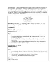 Kitchen Staff Job Description For Resume Sample Resume Of A Kitchen Staff Danayaus 15