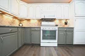 painted kitchen cabinets two colors. captivant painted kitchen cabinets two colors green gorgeous design ideas with light counter tops 9