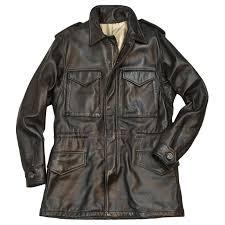 leather m 65 field jacket by cockpit usa