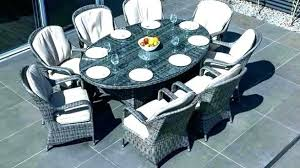 8 person square outdoor dining table round for patio incredible