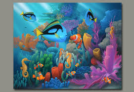 under the ocean and marine life paintings