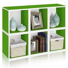 furniture charming modular storage cubes design benches green with white accent painted particle board craft display home charming office craft home wall storage
