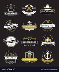 Vintage Logo Vector Hotel Stores And Cafe Vintage Logos Royalty Free Vector
