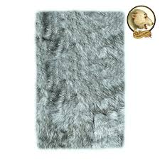 grey faux fur area rug great soft faux fur area rug gray wolf gy fake