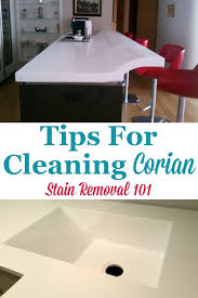 here is a round up of tips for cleaning corian countertops and other corian items in