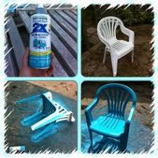 painting plastic chairs. my crusty old chairsi wiped them clean with a dry cloth, then sprayed turquoise rustoleum spray paint that has primer in one and painting plastic chairs