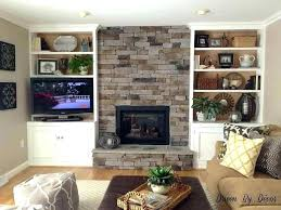 fireplace niche fireplace tv niche with gray built in shelves