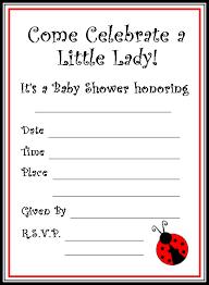 Ladybug Invitations Template Free Free Printable Ladybug Baby Shower Invitations A Cute Lady