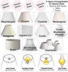 lamp shade styles amazing types of shades 91 connectors 11