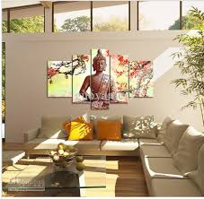 5 panel wall art religion buddha oil painting on canvas no framework pictures decor on religious wall art canvas with 5 panel wall art religion buddha oil painting on canvas no framework
