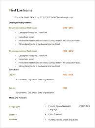 Resume Template Basic Resume Template Free Free Career Resume