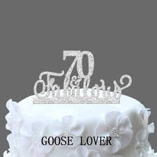 70th And Fabulous Cake Topper 70th Birthday Cake Topper Acrylic