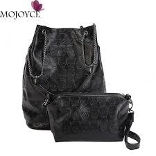 women pu leather tote handbag skull patterns clutch bags women composite shoulder bag elegant female large ping bag las purse leather briefcase from