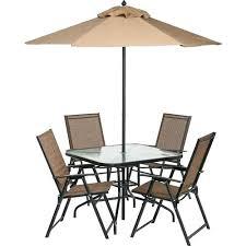 cuba 6 piece patio set asda outdoor folding with table 4 chairs umbrella and