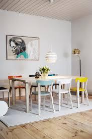 Bunte Esszimmerstühle Aus Holz Stehlampe Esszimmer