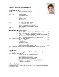 Sample Cv Resume Template Via Format Curriculumvitae Examples Cv