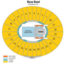 Rose Bowl Seats Online Charts Collection