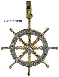 ships wheel and the diamond yacht wheel in larger format