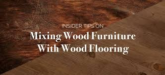 tips for mixing wood furniture with