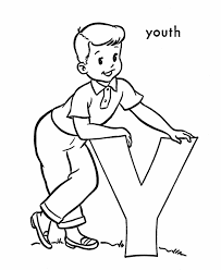 Abc Alphabet Coloring Sheets Y Is For Youth Honkingdonkey