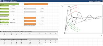 Snubber Design Calculator Rc Snubber Calculator Spreadsheet