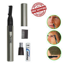 eyebrow trimmer men. wahl nose ear trimmer eyebrow neck hair groomer lithium micro personal shaver men
