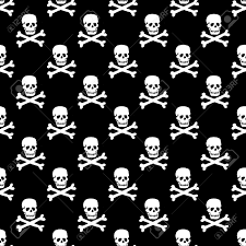 Skull Pattern Beauteous Vector Skulls Pattern Monochrome Black And White Royalty Free