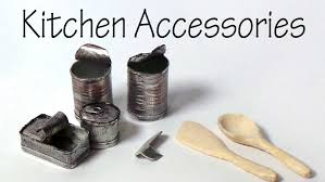 Kitchen Accessory Miniature Kitchen Accessories Cans Can Opener Wooden Spoon