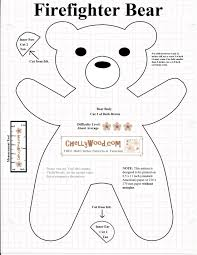 Teddy Bear Sewing Pattern Magnificent Free Printable SmokeyBear Or TeddyBear Sewing Pattern