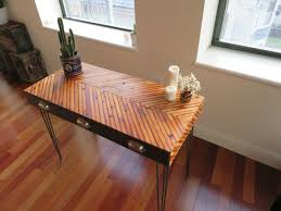 make your office more eco friendly with a reclaimed wood desk regard to wooden decor 12