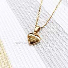 dubox hypoallergenic non tarnish stainless steel tiffany inspired pendant necklace gold tone